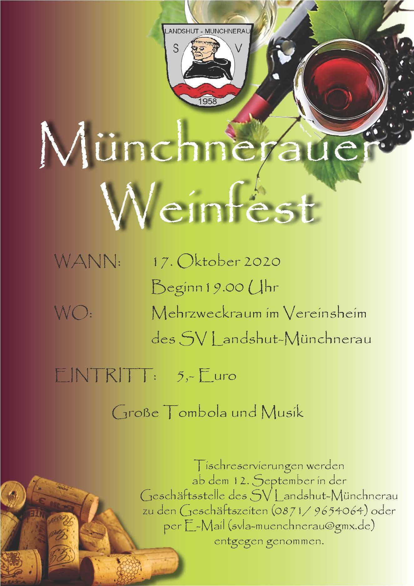 Plakat Weinfest 2020