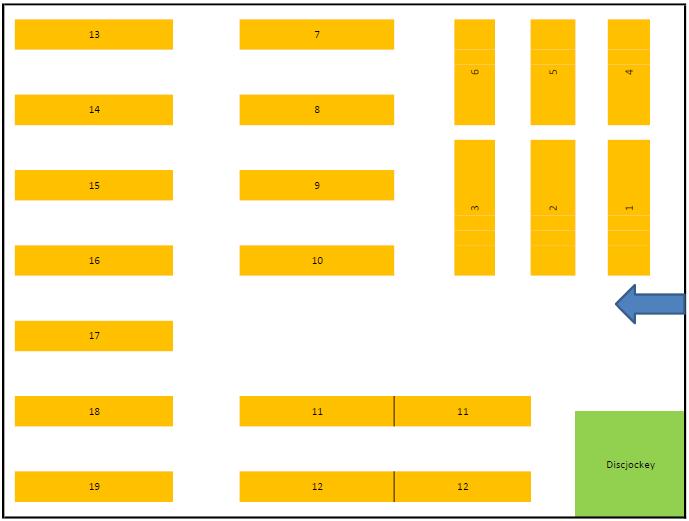 Tischplan zur Reservierung